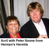 Avril with Peter Noone from Herman's Hermits