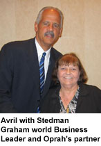 Avril with Stedman Graham world Business Leader and Oprah's partner